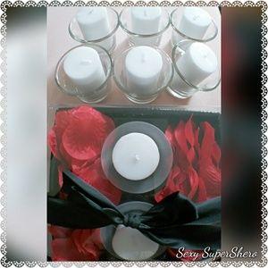 🆕🌹 🕯 Romantic Bath Setting Home Candle Rose Kit